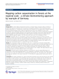 "báo cáo hóa học: ""  Mapping carbon sequestration in forests at the regional scale - a climate biomonitoring approach by example of Germany"""