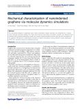 "Báo cáo hóa học: ""  Mechanical characterization of nanoindented graphene via molecular dynamics simulations"""
