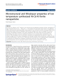"""Báo cáo hóa học: """" Microstructural and Mössbauer properties of low temperature synthesized Ni-Cd-Al ferrite nanoparticles Khalid Mujasam Batoo"""""""