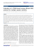 "Báo cáo hóa học: ""  Evaluation of a TDMA-based energy efficient MAC protocol for multiple capsule networks"""
