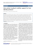 """Báo cáo hóa học: """" Inter-subnet localized mobility support for host identity protocol"""""""