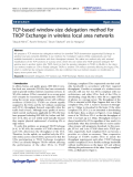 "Báo cáo hóa học: ""  TCP-based window-size delegation method for TXOP Exchange in wireless local area networks"""