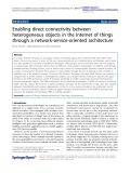 "Báo cáo hóa học: ""  Enabling direct connectivity between heterogeneous objects in the internet of things through a network-service-oriented architecture"""