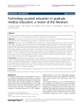 "Báo cáo hóa học: "" Technology-assisted education in graduate medical education: a review of the literature"""
