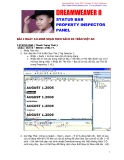 DREAMWEAVER 8 STATUS BAR PROPERTY INSPECTOR PANEL