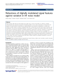 "báo cáo hóa học: ""  Robustness of digitally modulated signal features against variation in HF noise model"""