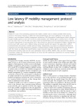 "báo cáo hóa học: ""  Low latency IP mobility management: protocol and analysis"""