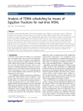 "báo cáo hóa học: "" Analysis of TDMA scheduling by means of Egyptian Fractions for real-time WSNs"""