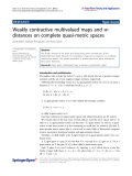 "báo cáo hóa học: "" Weakly contractive multivalued maps and wdistances on complete quasi-metric spaces"""