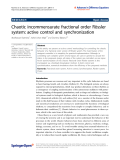 """báo cáo hóa học: """"  Chaotic incommensurate fractional order Rössler system: active control and synchronization"""""""