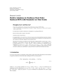 "báo cáo hóa học: "" Research Article Positive Solutions to Nonlinear """