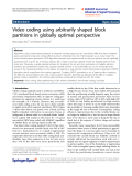 "báo cáo hóa học: "" Video coding using arbitrarily shaped block partitions in globally optimal perspective"""