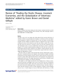 """báo cáo hóa học: """"  Review of """"Healing the Herds: Disease, Livestock Economies, and the Globalization of Veterinary Medicine"""" edited by Karen Brown and Daniel Gilfoyle"""""""
