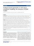 """báo cáo hóa học: """"  Analogue-based approaches in anti-cancer compound modelling: the relevance of QSAR models"""""""