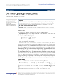 "Báo cáo hóa học: ""  On some Opial-type inequalities"""