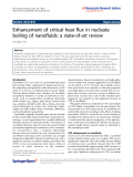 "Báo cáo hóa học: "" Enhancement of critical heat flux in nucleate boiling of nanofluids: a state-of-art review"""