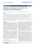 "Báo cáo hóa học: "" Revelation of graphene-Au for direct write deposition and characterization"""