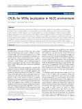 "Báo cáo hóa học: ""  CRLBs for WSNs localization in NLOS environment"""