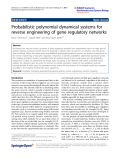 """Báo cáo hóa học: """"  Probabilistic polynomial dynamical systems for reverse engineering of gene regulatory networks"""""""