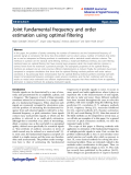 """Báo cáo hóa học: """" Joint fundamental frequency and order estimation using optimal filtering"""""""
