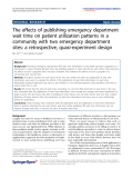 "Báo cáo hóa học: ""  The effects of publishing emergency department wait time on patient utilization patterns in a community with two emergency department sites: a retrospective, quasi-experiment design"""