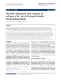 "Báo cáo hóa học: "" Thermal conductivity and viscosity of self-assembled alcohol/polyalphaolefin nanoemulsion fluids"""