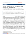 "Báo cáo hóa học: "" Thermal conductivity and thermal boundary resistance of nanostructures"""