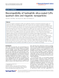 "Báo cáo hóa học: ""Biocompatibility of hydrophilic silica-coated CdTe quantum dots and magnetic nanoparticles"""
