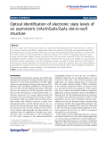 """Báo cáo hóa học: """" Optical identification of electronic state levels of an asymmetric InAs/InGaAs/GaAs dot-in-well structure"""""""