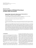 Báo cáo: Statistical Analysis of Multipath Clustering in an Indoor Office Environment