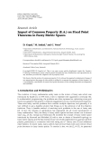 Hindawi Publishing Corporation Fixed Point Theory and Applications Volume 2011, Article ID 297360,