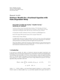 """Báo cáo hóa học: """"Research Article Existence Results for a Fractional Equation with State-Dependent Delay"""""""