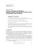 """Báo cáo hóa học: """"Research Article Existence of Solutions to Nonlinear Langevin Equation Involving Two Fractional Orders with Boundary Value Conditions"""""""