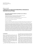 "Báo cáo hóa học: ""Review Article A Model-Driven Approach for Hybrid Power Estimation in Embedded Systems Design"""