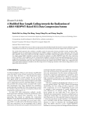 """Báo cáo hóa học: """"Research Article A Modified Run-Length Coding towards the Realization of a RRO-NRDPWT-Based ECG Data Compression System"""""""