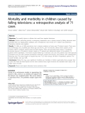 "Báo cáo hóa học: ""Mortality and morbidity in children caused by falling televisions: a retrospective analysis of 71 cases"""