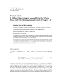 """Báo cáo hóa học: """" Research Article A Hilbert-Type Integral Inequality in the Whole Plane with the Homogeneous Kernel of Degree −2 Dongmei Xin and Bicheng Yang"""""""