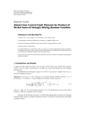 """Báo cáo hóa học: """" Research Article Almost Sure Central Limit Theorem for Product of Partial Sums of Strongly Mixing Random Variables"""""""