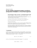 "Báo cáo hóa học: ""  Research Article On the Stability of Quadratic Double Centralizers and Quadratic Multipliers: A Fixed Point Approach"""