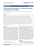 "Báo cáo hóa học: "" Nanoscale characterization of electrical transport at metal/3C-SiC interfaces"""