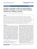"""Báo cáo hóa học: """"  Inorganic nanotubes reinforced polyvinylidene fluoride composites as low-cost electromagnetic interference shielding materials"""""""