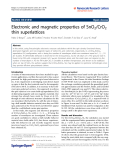 "Báo cáo hóa học: ""  Electronic and magnetic properties of SnO2/CrO2 thin superlattices"""