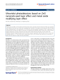 "Báo cáo hóa học: ""  Ultraviolet photodetectors based on ZnO nanorods-seed layer effect and metal oxide modifying layer effect"""