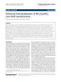 "Báo cáo hóa học: ""  Enhanced functionalization of Mn2O3@SiO2 core-shell nanostructures"""