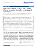 "Báo cáo hóa học: ""   Growth and characterization of gold catalyzed SiGe nanowires and alternative metal-catalyzed Si nanowires"""