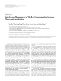 "Báo cáo hóa học: ""   Editorial Interference Management in Wireless Communication Systems: Theory and Applications"""