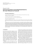 """Báo cáo hóa học: """"   Research Article QoS-Guaranteed Power Control Mechanism Based on the Frame Utilization for Femtocells Pavel Mach and Zdenek Becvar"""""""