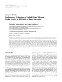 "Báo cáo hóa học: ""   Research Article Performance Evaluation of Uplink Delay-Tolerant Packet Service in IEEE 802.16-Based Networks"""