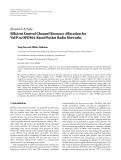 """Báo cáo hóa học: """"   Research Article Efficient Control Channel Resource Allocation for VoIP in OFDMA-Based Packet Radio Networks"""""""