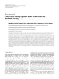 "Báo cáo hóa học: "" Review Article Comparison among Cognitive Radio Architectures for Spectrum Sensing"""